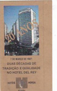 BRASIL HORSA HOTELS VINTAGE LUGGAGE LABEL