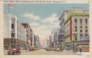 New York Syracuse South Salina Street Lookoing South From Fayette Street Wool...