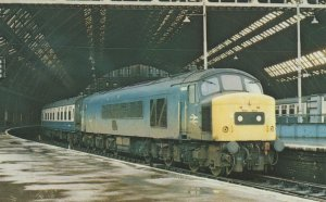 Class 45 D18 Train at St Pancras Station in 1978 Railway Postcard