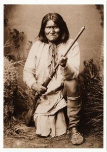 Geronimo Chiricahua Apache Chief in 1885 Native American Modern Postcard