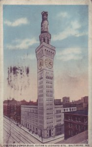 Baltimore MD - EMERSON TOWER BUILDING, EUTAW & LEONARD STS 1910s