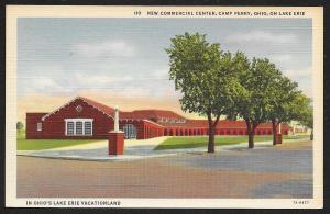 Commercial Center Camp Perry Ohio Unused c1937