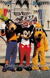 Goofy, Mickey & Pluto Walt Disney World, FL, USA Unused