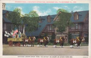 International Live Stock Exposition, Chicago Union Stock Yard 4-H Hitch in ...