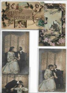 Romantic Couple RPPC Postcard Lot of 10 01.10