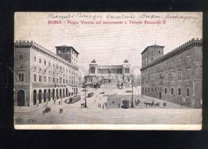 039762 ITALY Roma Piazza Venezia col monumento Old