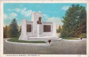 Lincoln Speech Memorial Gettysburg Pennsylvania 1930