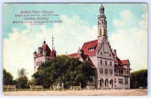 1910 JACKSON PARK CHICAGO GERMAN BUILDING ERECTED FOR THE WORLD'S FAIR 1893