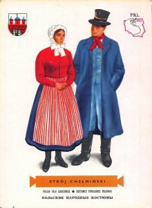 Poland Polish Folk Costumes Populaires Polonais Stroj Chelminski Postcard