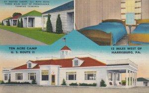 HARRISBURG (12 miles West) , PENN. , 1930-40s ; Ten Acre Camp U.S. RT 11