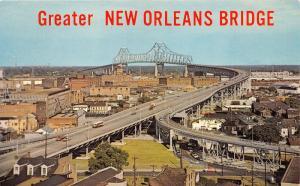 New Orleans Louisiana~Greater New Orleans Bridge~1950-60s Bus-Trucks-Cars