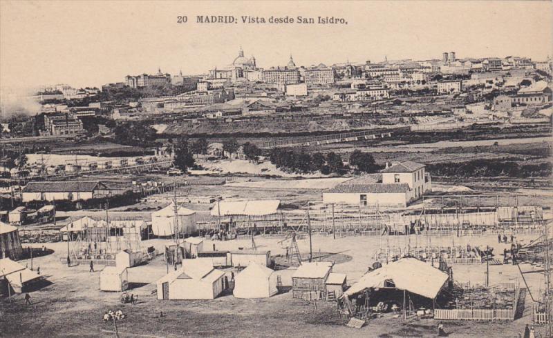 MADRID, Spain, 1900-1910´s; Vista Desde San Isidro