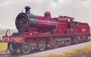 LMS Midland Class 4-4-0 No 999 Train Derby Built Old Postcard
