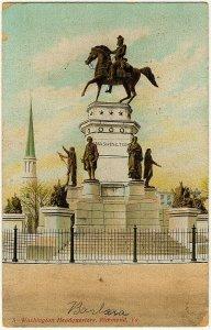 1909 Richmond VA George Washington Monument Headquarters MISTAKE RARE Postcard