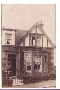 Real Photo, House, Glasgow, Scotland, Used