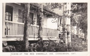 RP: CARNARVON , Ontario , 1930-40s ; Cabins at the Red Umbrella Inn