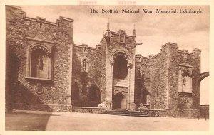 Scotland, UK Old Vintage Antique Post Card Scottish National War Memorial Edi...
