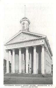 Lexington North Carolina~Davidson County Court House~1940s Postcard