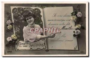 Old Postcard Fancy Martha Surname