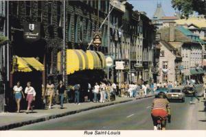 Saint Louis Street, Cafe de Paris, Store Fronts, Classic Cars, QUEBEC CITY, Q...