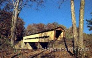 Middle Road, Conneaut City, Ashtabula CO, Ohio, USA Covered Bridge Unused