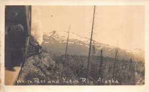 Real Photo Postcard White Pass and Yukon Railway in Alaska~131109