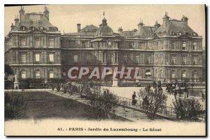 Postcard Old Paris Luxembourg Garden the Senate