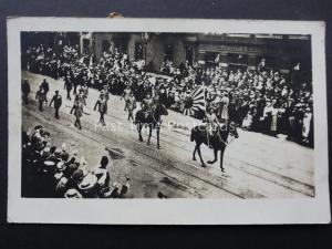 London Aka Hirohito ANGLO / JAPANESE STATE VISIT STREET PARADE 1921 RP Postcard