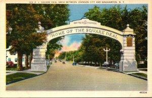 New York Binghamton E J Square Deal Arch