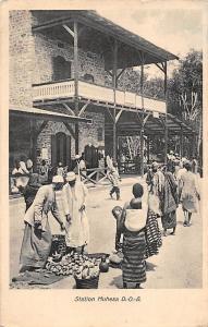 German East Africa Tanzania Station Muhesa D.O.A. Natives, Postcard