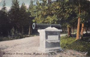 Michigan Machinac Island Monument At British Landing