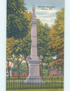Unused Linen MINISINK MONUMENT Goshen New York NY HM9448@