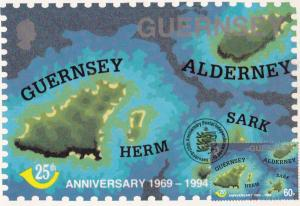 Map Of Plane Ballwick Guernsey Limited Edition First Day Stamp Cover Postcard