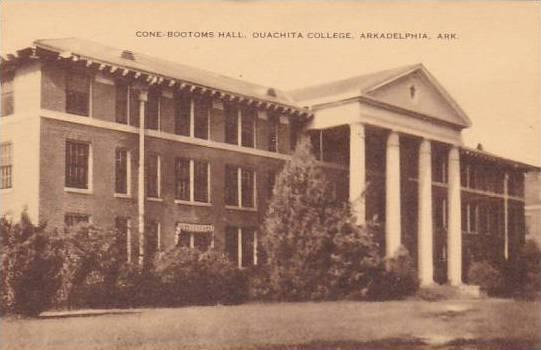 Arkansas Arkadelphia Cone Bottoms Hall Ouachita College Artvue
