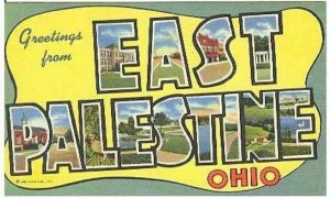 pc3036 postcard East Palestine Ohio Large Letter MOBSC