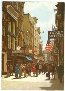 Netherlands, Amsterdam, Kalverstraat, 1976 used Postcard