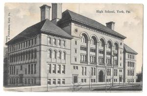 York PA High School Vintage 1906 Postcard McCrorey Publ.