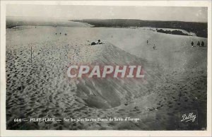 Postcard Old Pilat Plage on the highest sand dunes in Europe