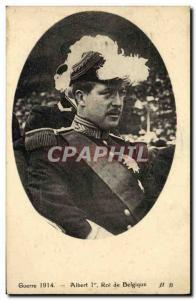 Old Postcard War 1914 King Albert 1st of Belgium