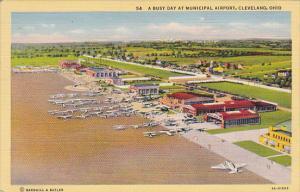 Municipal Airport Cleveland Ohio Curteich