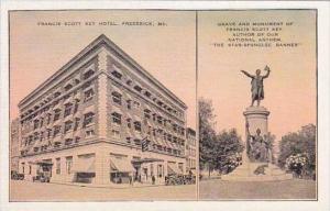 Ohio Frederick Francis Scott Key Hotel Grave And Monument Of Francis Scott Key