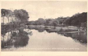 Beloit Wisconsin Central Bridge Rock River Antique Postcard K84416