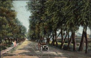 Main St. From Catskill Landing NY & RR Train 1908 Used Postcard