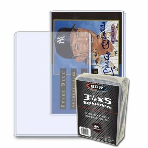 Toploader 3.5 x 5 BCW Postcard or Photo Holder Archive Protector Pack of 25