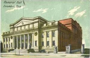 Columbus, Ohio, PU-1908   Memorial Hall #2