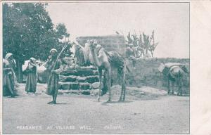 EGYPT, 00-10s; Camel, Peasants At Village Well