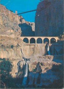 Algerie Postcard Constantine les gorges & le pont suspendu