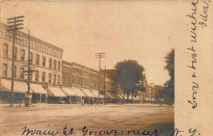 Gouverneur NY Main Street Storefronts 1905 RPPC Postcard