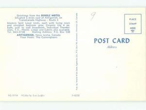 Pre-1980 MOTEL SCENE Antigonish Nova Scotia NS W6755