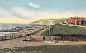 The Western Parade & Lawn Eastbourne, Great Britain, Early Postcard, Unused